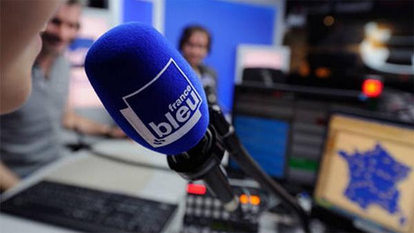 france bleu isère, photo d'un micro pour l'émission La Courgette dans tous ses états