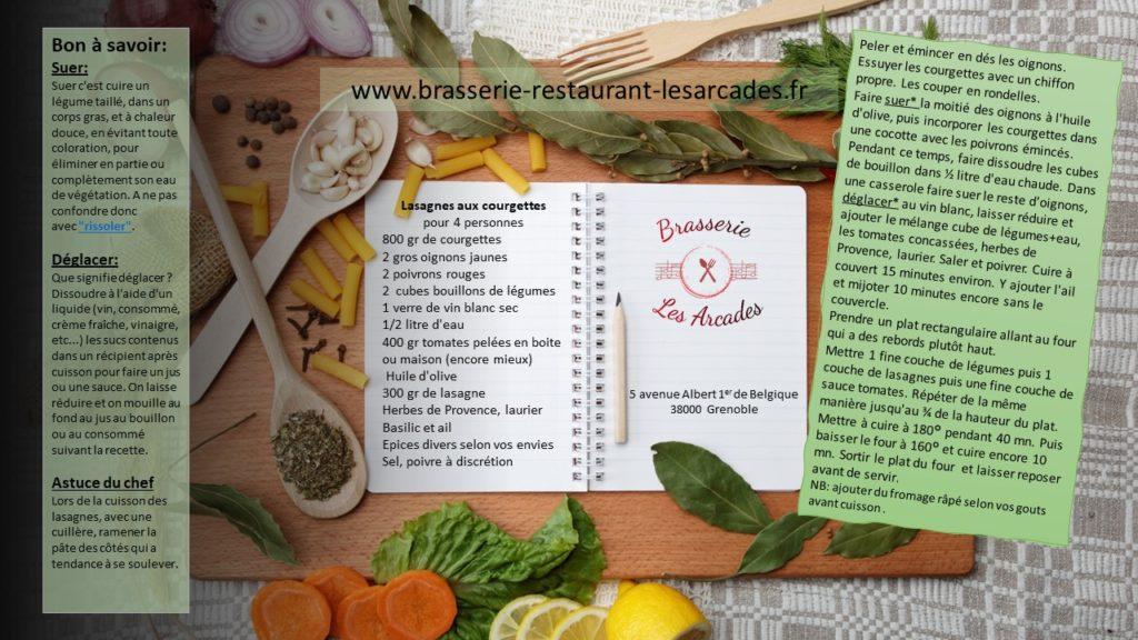 plats de lasagnes aux courgettes pour la rubrique recettes & astuces
