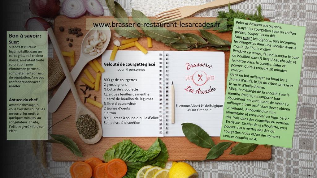 la recette du velouté de courgettes glacé pour cette rubrique recettes & astuces